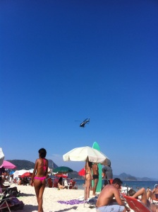 X99 flying over Copacabana Beach very slowly for the 29th time this afternoon. I suppose you would though, wouldn't you?