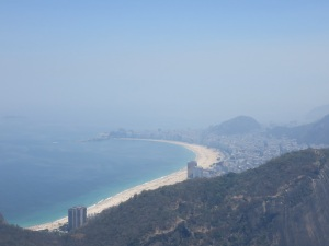 Copacabana beach from the top of Sugar Loaf