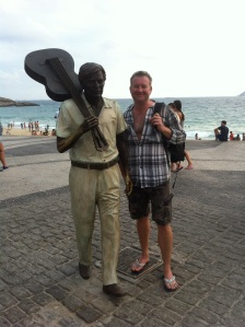 Me and a statue of Tom Jobin, the co writer of The Girl From Ipanema