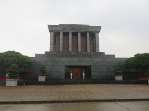 Ho Ci Min's mausoleum. Closed as they're just putting his rotting body back together!