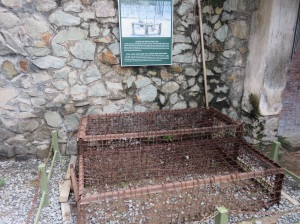 A Tiger cage used for keeping prisoners in. Tiny, and brutal.