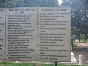 The translated rules of Tuol Sleng