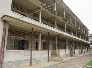 Part of Tuol Sleng prison, which prior to that was a high school.