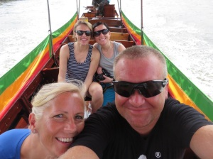 On the long tail boat in the Bangkok canals